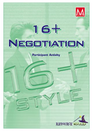 Picture of 16+Negotiation Style Profile Participant Activity